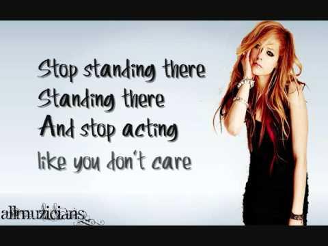 Avril Lavigne- Stop Standing There Lyrics