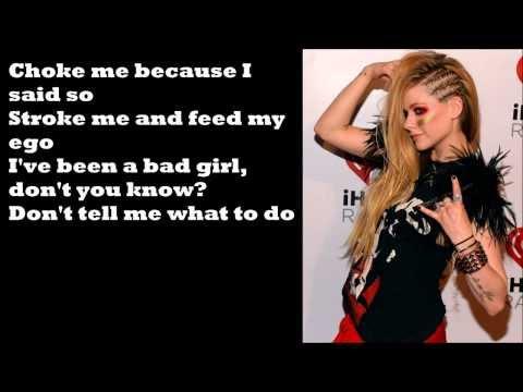 Avril Lavigne - Bad Girl (feat. Marilyn Manson) [Lyrics]
